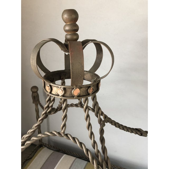 Baroque Baroque Ornate Four Poster Dog Bed With Crown For Sale - Image 3 of 7
