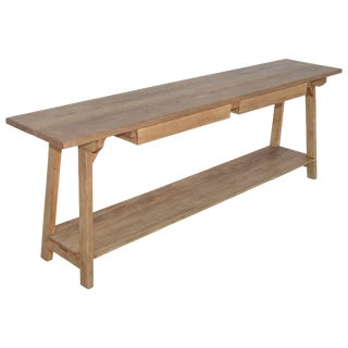 Console Table in Reclaimed Heart-Pine, Built to Order by Petersen Antiques For Sale