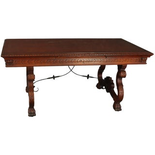 Table Renaissance Mahogany Vintage French 1950 For Sale