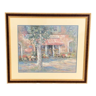 "1990's Vintage ""The Pastry Shoppe "" Limited Edition Lithograph by L. Gordon For Sale"