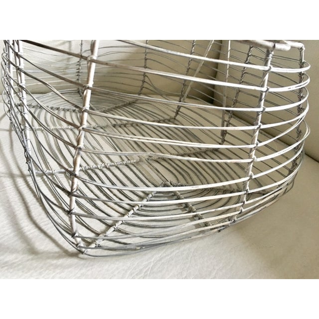 Antique French Wire Basket For Sale - Image 5 of 7