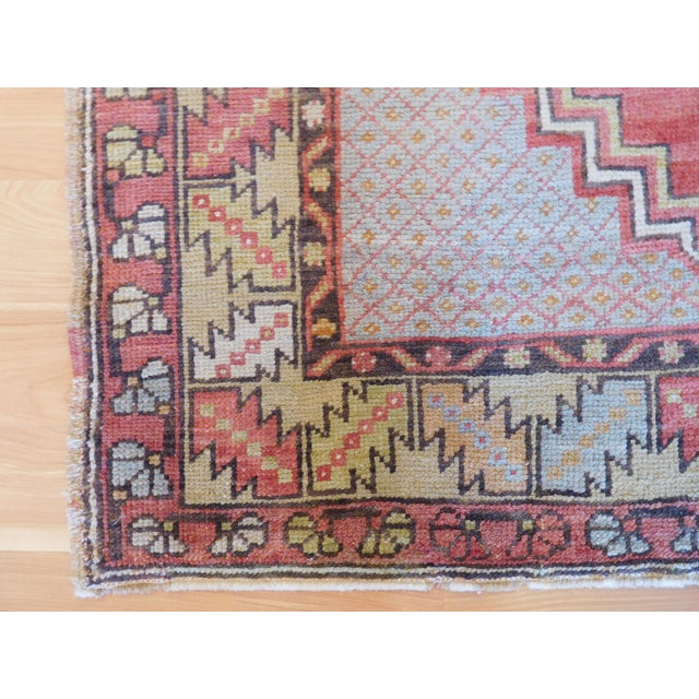 Vintage Turkish Oushak Rug - 3′6″ × 5′4″ - Image 3 of 5