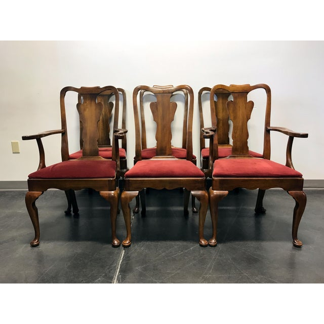 Quality Furniture Makers: Statton Oxford Antique Cherry Queen Anne Dining Chairs