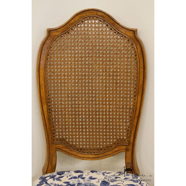 Late 20th Century Thomasville Furniture Tapestry Collection Cane Back Dining / Side Chair For Sale - Image 5 of 12
