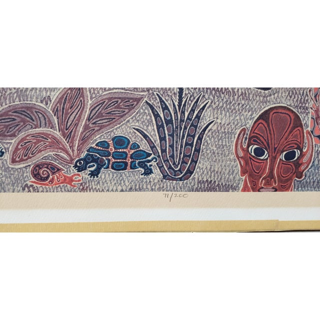 """Jesse Allen (Kenya, B.1936) """"Birds Flocking"""" Original Signed Print For Sale - Image 4 of 9"""