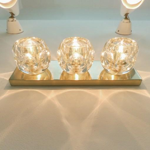 Brass Peill & Putzler Cubic Wall Lights - A Pair For Sale - Image 7 of 10