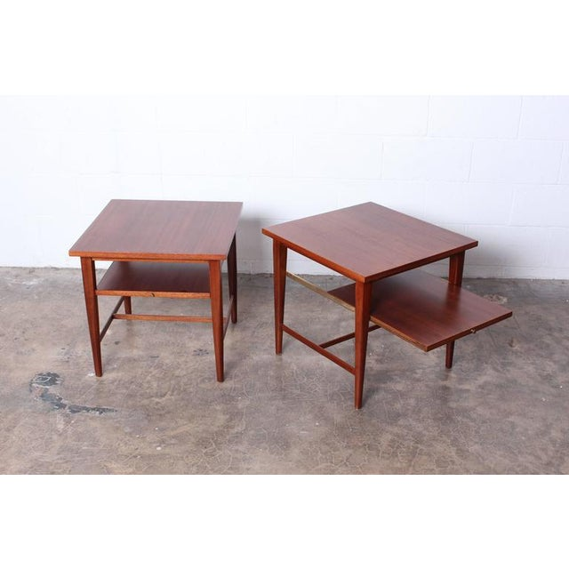Mahogany Pair of End Tables by Paul McCobb for Calvin For Sale - Image 7 of 10