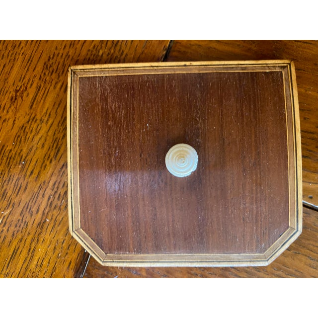 19th Century Antique Octagonal Wooden Tea Caddy For Sale In Dallas - Image 6 of 9