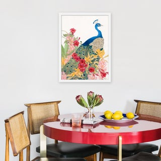"""Medium """"Peacock Paradise"""" Print by Allison Cosmos, 18"""" X 24"""" Preview"""