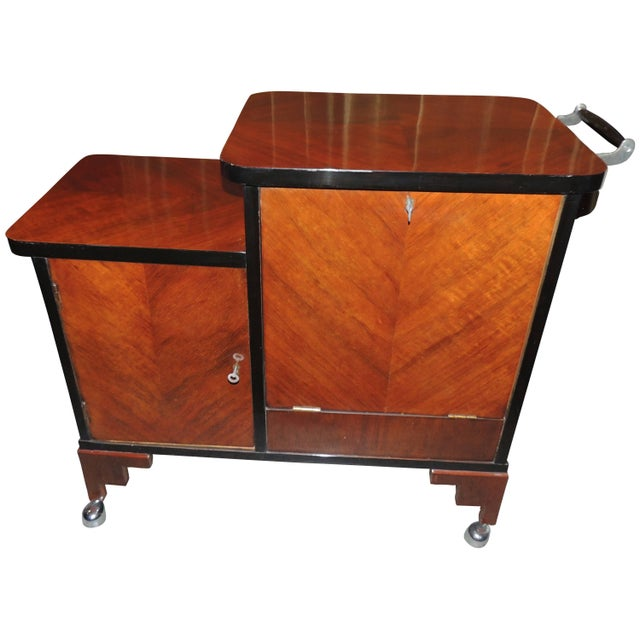 Art Deco Rolling Bar Cart For Sale - Image 10 of 10
