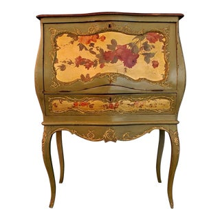 French 19th Century Hand-Painted Secretary Desk For Sale