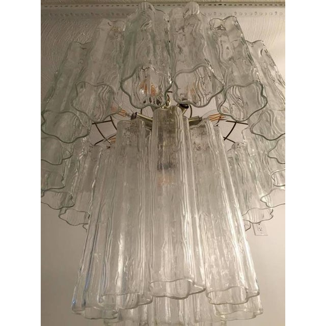 Mid-Century Italian Tronchi Glass Chandelier For Sale - Image 4 of 7