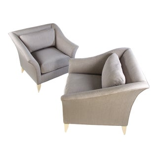 Set of Milo Baughman Biedermeier Lounge Chairs for Thayer Coggin For Sale