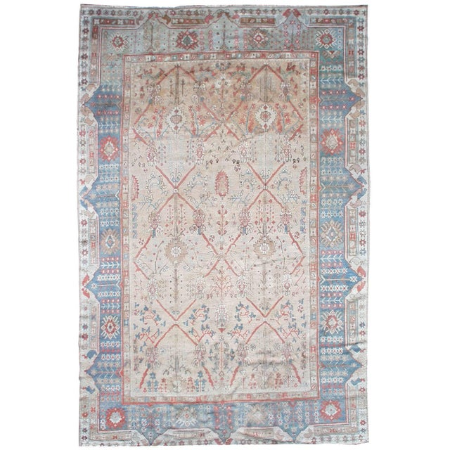 Antique Turkish Ghiordes Rug For Sale - Image 9 of 9