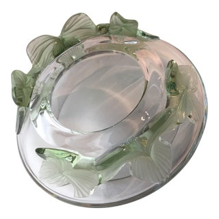 1970s Vintage Marie-Claude Lalique Crystal 'Lierre' Bowl For Sale