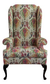 Image of Queen Anne Wingback Chairs
