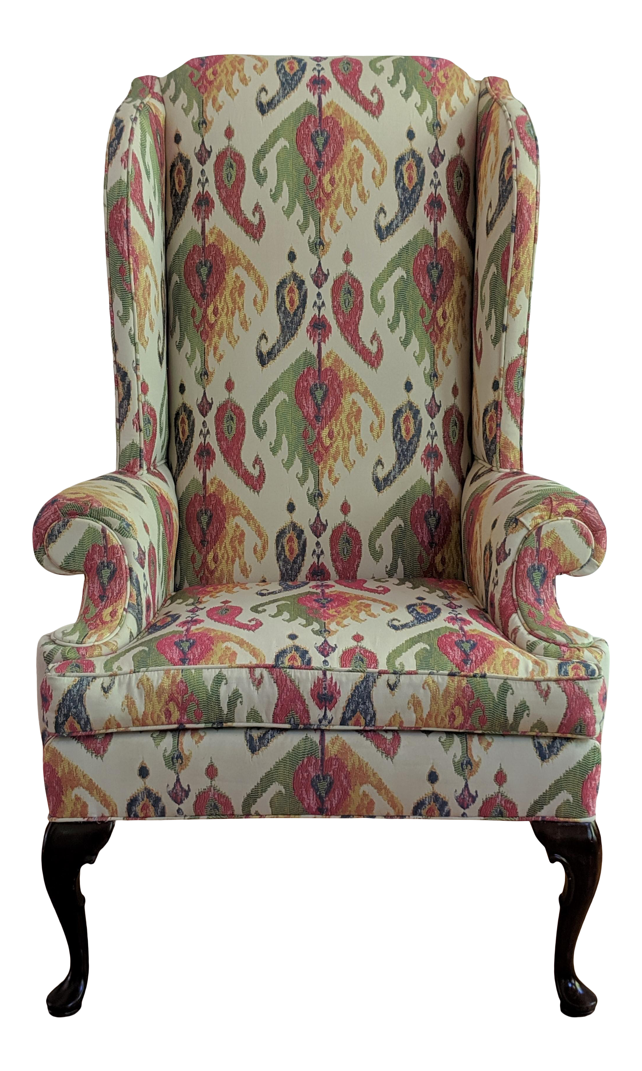 Brilliant Vintage Used Queen Anne Wingback Chairs Chairish Ocoug Best Dining Table And Chair Ideas Images Ocougorg