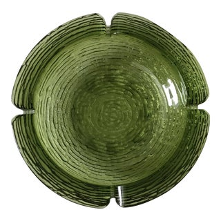 Vintage Large Green Glass Cigar Ashtray