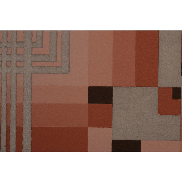 Silver Art Deco Geometric Wallpaper Sample - Image 2 of 2