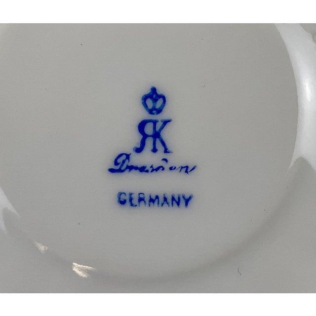 Ivory Antique 19th Century Richard Klemm Dresden Porcelain Demitasse Cup & Saucer For Sale - Image 8 of 10
