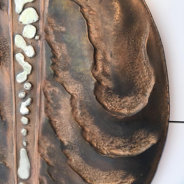 Set of Two Brutalist Mixed Metal Wall Sculptures Signed Wendell For Sale In Chicago - Image 6 of 13