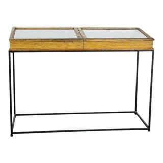 Vintage Showcase Console Table For Sale