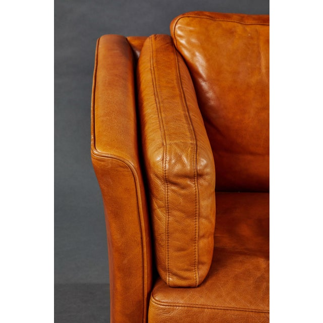 Mid 20th Century A Rich Leather Scandinavian Settee For Sale - Image 5 of 7