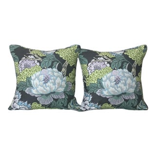 Thibaut Honshu in Gray Pillow Covers - a Pair For Sale