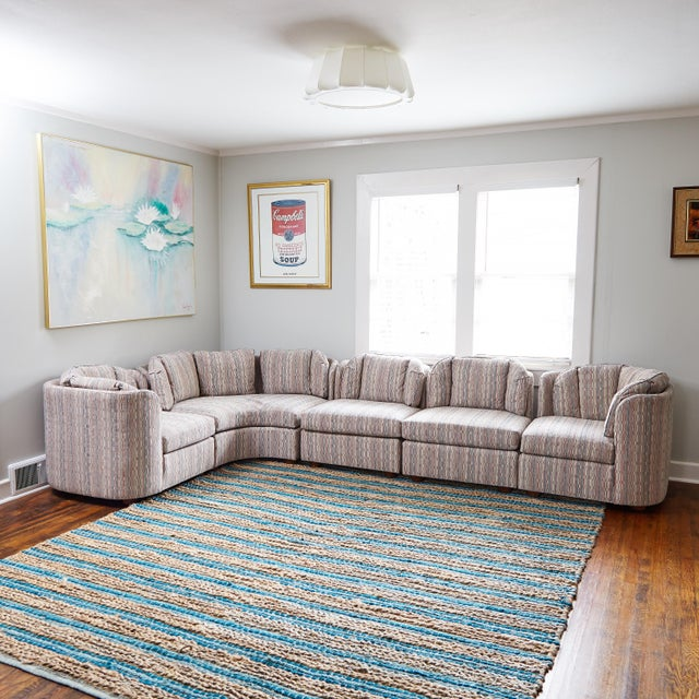 Mid-Century Henredon 5 Piece Sectional Sofa For Sale - Image 13 of 13