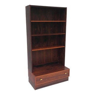 Scandinavian Modern Rosewood Bookshelf For Sale