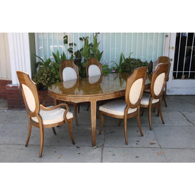 Mastercraft Burlwood Dining Set For Sale In Los Angeles - Image 6 of 12