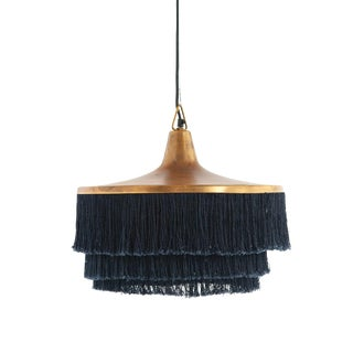 Fringed Metal Pendant Light For Sale