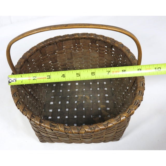 20th Century Rustic Maine Woven Basket For Sale - Image 12 of 13