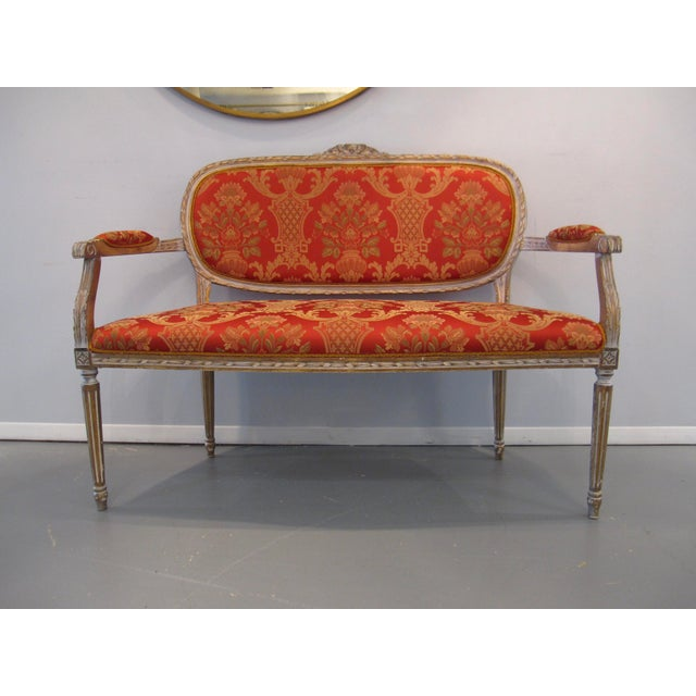 Scalamandre Upholstered Louis XVI Settee For Sale In Washington DC - Image 6 of 6
