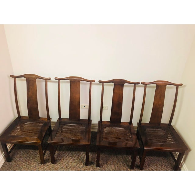 1970s Vintage Henredon Mahogany Dining Set - 6 Pieces For Sale - Image 5 of 10