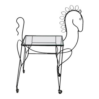 Mid-Century Modern Horse-Form Bar Cart by Frederick Weinberg For Sale