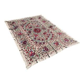 "Handmade Suzani Crochet Bedspread / Table Cloth - 8'2"" x 6'3"""