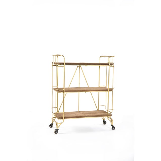 2010s Lulu Shelving Unit -Bar Cart With Wheels For Sale - Image 5 of 5