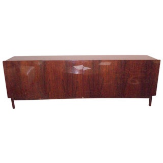 Mid-Century Long, Low Four Door Modernist Sideboard in Rosewood For Sale