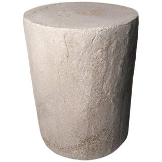 Cast Resin 'Dock' Side Table in Aged Finish by Zachary A. Design For Sale