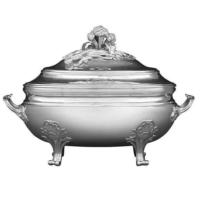 Louis XV Silver Tureen by Jean-Baptiste-Francois Chéret For Sale - Image 5 of 5