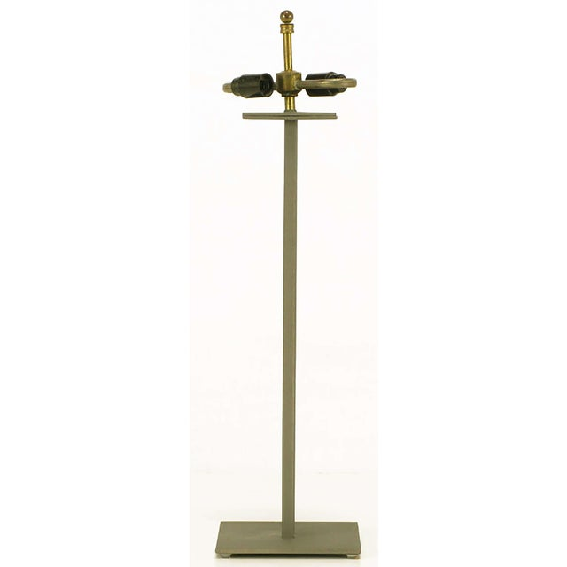 1980s Postmodern Memphis-Style Angled Metal Table Lamp For Sale - Image 5 of 5