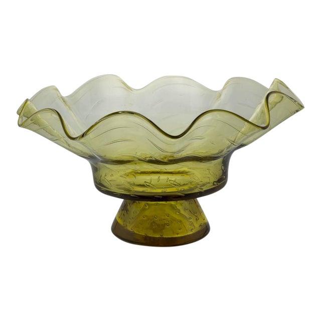Ruffled Shape Blenko Bowl - Image 1 of 10