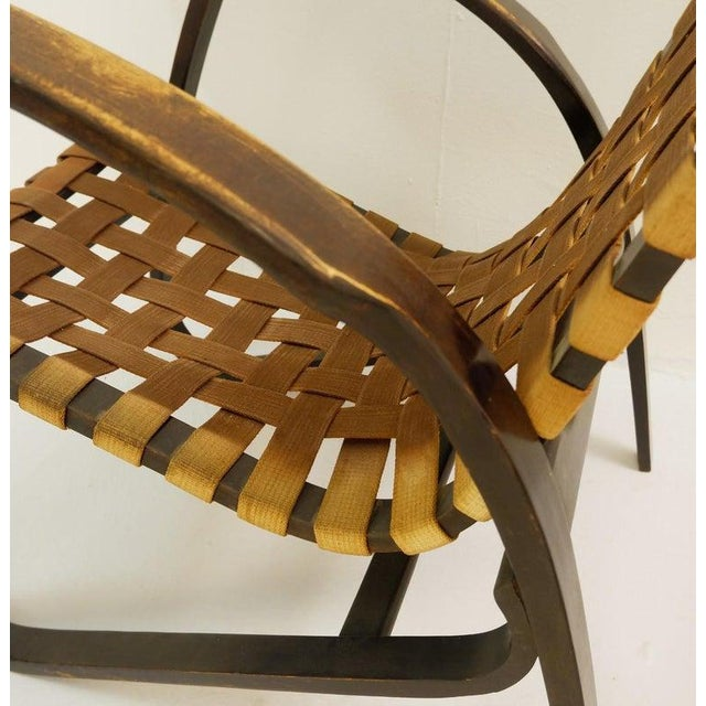 Mid-Century Modern Pair of Bentwood Armchairs by Jan Vanek for Up Závody, 1930s For Sale - Image 3 of 9