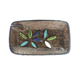 Mid Century Italian Pottery Ashtray For Sale
