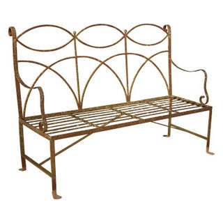 Early 20th Century Neoclassical Wrought Iron Garden Bench Preview