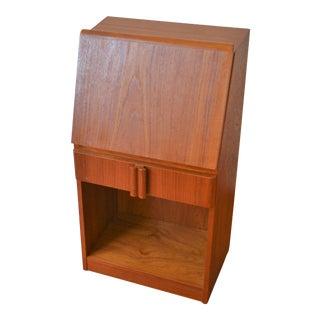 1970s Danish Modern Teak Cabinet For Sale
