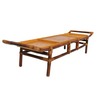 Flicks Reed Pagoda Form Bamboo Coffee Table by John Wisner For Sale