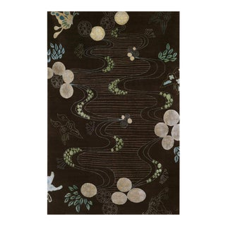 """Chinese River"" Rug by Emma Gardner For Sale"