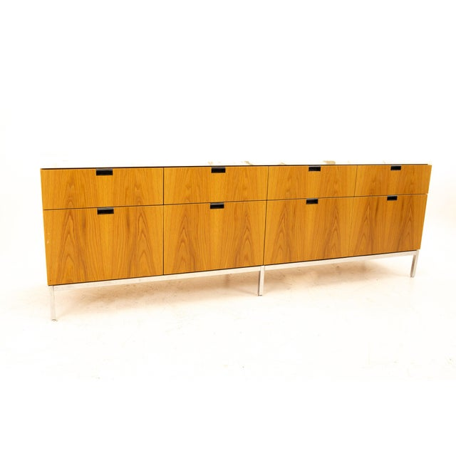 Florence Knoll Mid Century Modern White Marble Top Sideboard Credenza For Sale - Image 11 of 11